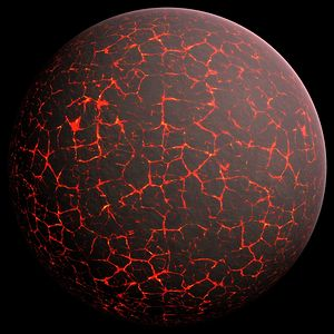 History of Earth - Artist's conception of Hadean Eon Earth, when it was much hotter and inhospitable to all forms of life.