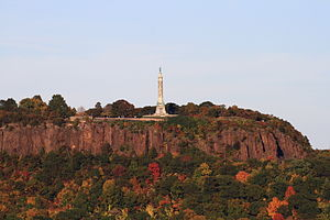 East Rock, New Haven - Image: East Rock from SSS Hall, October 17, 2008