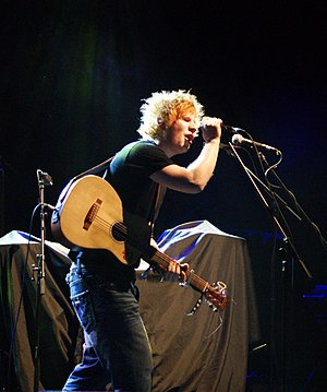 + (Ed Sheeran album) - Sheeran performing at Academy 1 in Manchester.