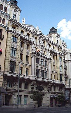 Edificio de Seguros La Estrella (Gran Vía 10, Madrid) 02.jpg