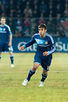 Eduardo Salvio - Switzerland vs. Argentina, 29th February 2012.jpg
