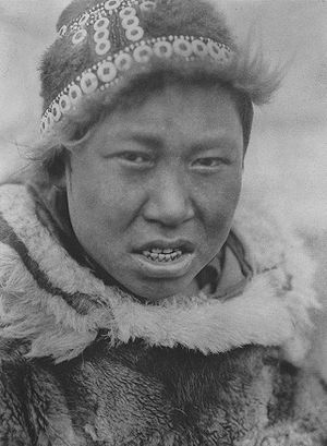 Yupik - Central Alaskan Hooper Bay youth, 1930