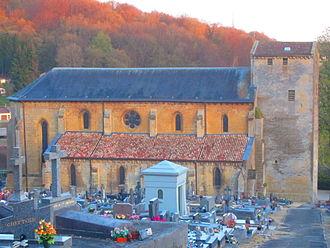 Longuyon - Saint Agatha's Church and cemetery