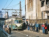 A tram from Heliopolis terminates at Cairo's Ramses Station