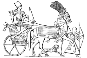 Joseph Bonomi the Younger - Egyptian Chariot, illustration by Joseph Bonomi from Nineveh and its Palaces