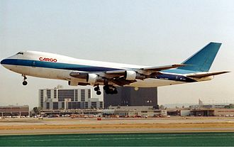 El Al Flight 1862 - 4X-AXG, the aircraft involved, seen at Los Angeles in 1992.
