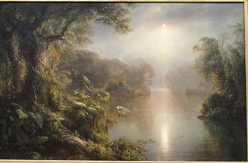 El Rio de Luz (The River of Light) by Frederic Edwin Church, 1877, oil on canvas - National Gallery of Art, Washington - DSC00074