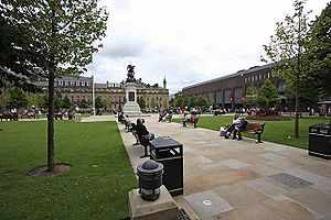 Old Eldon Square - The square viewed from the West