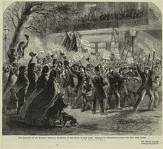 Horatio Seymour - Campaign rally celebrating Seymour's election