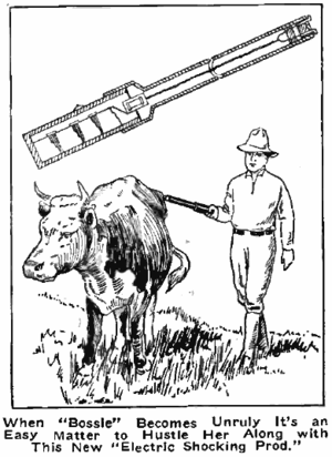 Cattle prod - An ad for an electric cattle prod in 1917 magazine