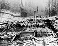 Electron Diversion Dam excavation at the Puyallup River, November 15, 1903 (SPWS 85).jpg