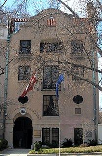 Embassy of Latvia in Washington, D.C. diplomatic mission of the Republic of Latvia to the United States