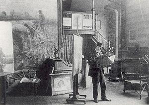 Emile Claus - Emile Claus's studio