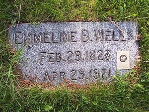 Emmeline B. Wells - Wells' grave marker