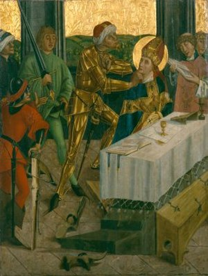 Emmeram of Regensburg - The Martyrdom of Saint Emmeram (Salzburg), from the Cathedral Treasury and Diocese Museum, Eichstätt