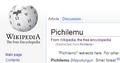 EnWiki redirect - Pichilemo.png