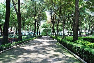 Monterrey Institute of Technology and Higher Education, Mexico City - Central garden area of the campus