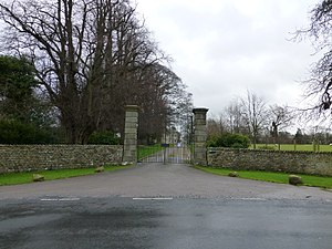 Listed buildings in Burrow-with-Burrow - Image: Entrance to Burrow Hall