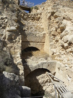 Entry-tunnel into the Herodium