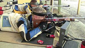 ISSF 50 meter rifle prone - Image: Eric uptagrafft usas larr training 2012