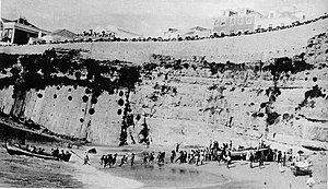 Ericeira - The Praia dos Pescadores (Fisherman's Beach), location of the departure of King Manuel II after the 5 October 1910 revolution