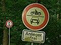 Erlangen, Zeichen 252 mit Zusatzschild 803, StVO 1970.jpg
