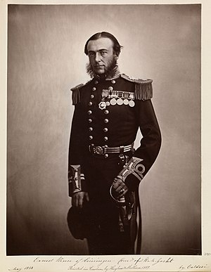 Ernst Leopold, 4th Prince of Leiningen - Image: Ernest, Prince of Leiningen (1830 1904), Commander of H.M. Yacht