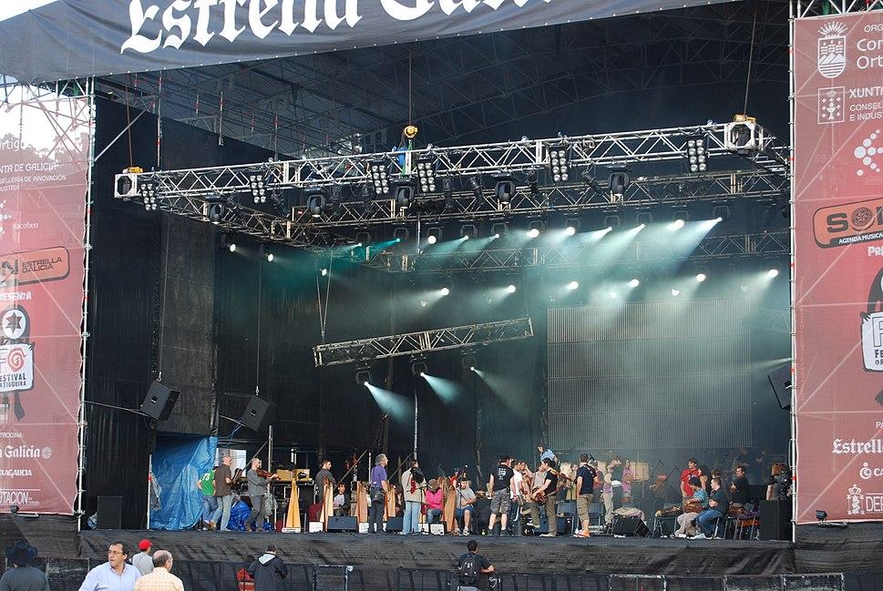 Escenario principal do Festival de Ortigueira 2008 2