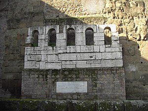 Porta Maggiore - Remains of Honorius' gate, which are not in their original location.