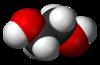 Spacefill model of ethylene glycol