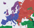 Europe religion map situation 1950 fr.png