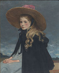 Henriette with large hat