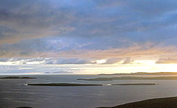 Evening view west from the Ness of Westshore - geograph.org.uk - 3712187.jpg