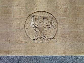 United States Courthouse (Davenport) - Exterior detail