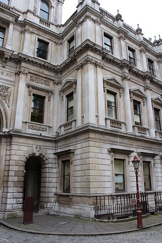 Linnean Society of London - The Society's premises in Burlington House seen from within the courtyard.