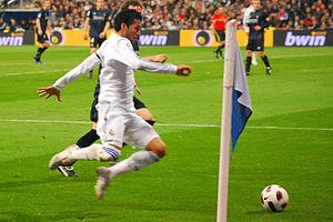 Ezequiel Garay - Garay playing for Real Madrid against Real Sociedad in 2011