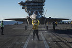 F-35C Joint Strike Fighter conducts its first launch from an aircraft carrier 141104-N-IP743-215.jpg