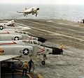 F-4B of VF-31 landing on USS Saratoga (CVA-60) in 1964.jpg