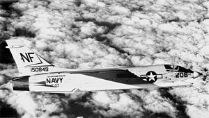 F-8J Crusader VF-53 in flight 1970.jpg