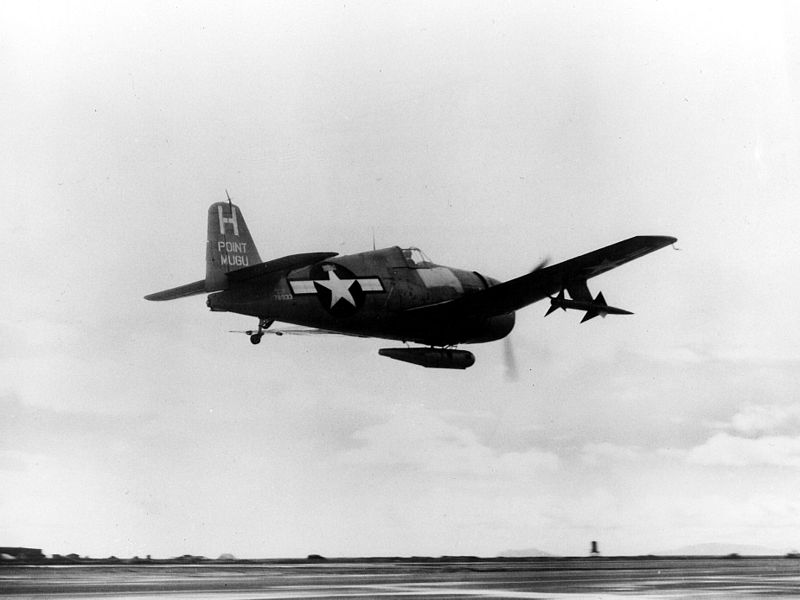 File:F6F-5 Hellcat with Sparrow missile in 1950.jpeg