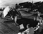 F6Fs of VF-74 on USS Kasaan Bay (CVE-69) off France 1944.jpg