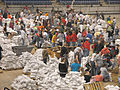 FEMA - 40291 - Sand bagging operation at the Fargo Dome in North Dakota.jpg