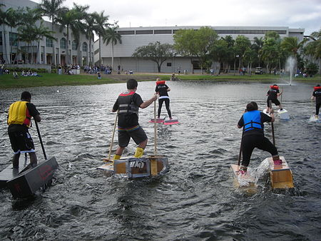 The Walk on Water race held annually by the School of Architecture. FIU wow.JPG
