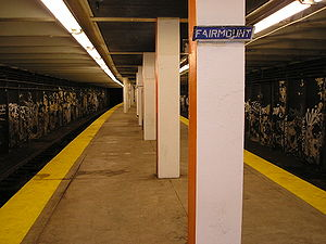 Broad Street Line - The Fairmount subway stop on the Broad-Ridge Spur