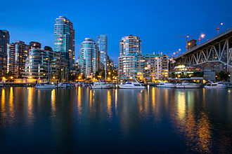 False Creek - False Creek at blue hour