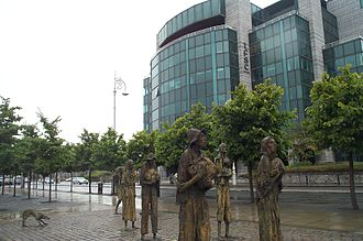 International Financial Services Centre - Famine Memorial and IFSC House (IFSC, Custom Quay, East Wall)