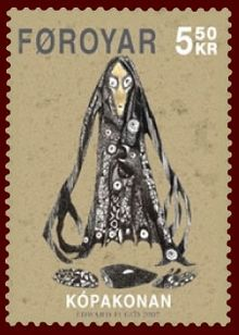 Faroese stamp 587 the seal woman.jpg