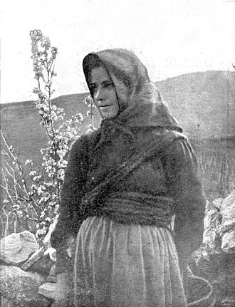 Istro-Romanians - Woman from Šušnjevica, in 1906.