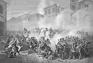 Felice Cerruti Bauduc - Image: Felice Cerruti Bauduc Garibaldientra a Palermo da Porta Termini litografia ca 1861