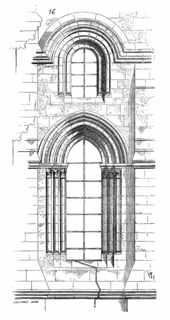 Dictionnaire raisonn de l architecture fran aise du xie for Fenetre en ogive